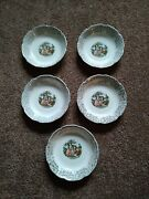 Set Of 5 Citro Dinnerware Courting Victorian Couple 7 3/4 Soup Bowls