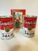 Campbell's Soup Tin Banks Lot Of 2 Vintage Tomato Soup +ornament 1998