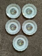 Set Of 5 Citro Dinnerware 9 1/4 Dinner Plates Courting Victorian Couple