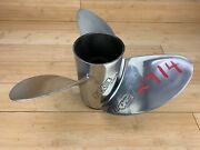 Evinrude Etec Rx3 Tbx 14 1/2 X 19 Rh Stainless Steel Prop - 177354 -