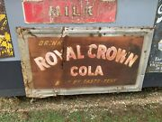 Large Old Vintage Royal Crown Cola Sign Rc Soda Gas Oil 1940and039s