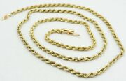 14k Yellow Gold Spiral Rope Chain Necklace Barrel Clasp 24 3mm 16.7g S1542