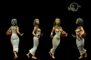 Egyptian Woman In Rome Tin Painted Toy Miniature Pre-sale | Art Quality