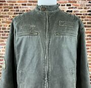 Canada Penitentiary System Guard Issue Leather Jacket Sz Lg Tyc Jeans Italy