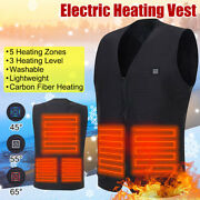 Heated Vest Winter Warm Men Women Electric Usb Heating Clothing Coat Thermal Us