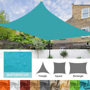 Waterproof Shade Sail Patio Awning Outdoor Garden Pool Sun Canopy Shelter Cover