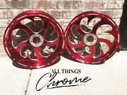 Yzf 300 Fat Tire Red Contrast Shark Tooth Wheels 2004-2008 Yamaha Yzf R1