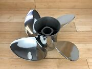 Evinrude Johnson Cyclone Tbx 14 1/8 X 19 Lh Stainless Steel Prop 4 Blade 763943