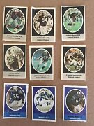 1972 Sunoco Football Stamps Lot Of 15 Gd Mels