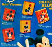 Mickey Mouse Lot Of 5 Mini Viewers Tomy Gacha Toy Vending Capsules New Disney