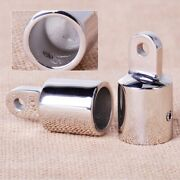 2pcs Stainless Steel 7/8and039and039 Pipe Eye End Yacht Boat Marine For Hardware Fitting