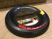 Home Interiors Kids - Car Tire Shaped - Wall Mirror With Arrows