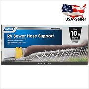 Aluminum Sewer Hose Support Supports Sewer Hoses Up To 10and039 Includes Strap Kit