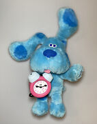Vintage Blues Clues Blue And Tickety Stuffed Plush Clock Sounds Soft Toy Tyco 1998