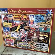 White Mountain Vintage Signs Puzzle 1000 Pc Boband039s Big Boy Indian Dairy Queen