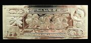 1984 5 Hibiscus - The First 24k Gold Bank Notes Of Belize W/ Presentation Card