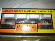 Mth 76200 Milwaukee Road Flat Car With 4 Trucks In Box.