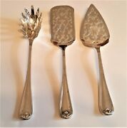 Gorham Heritage Silver Plate Italy 3 Serving Pieces, Lasagna, Pie And Pasta