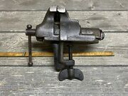 """Rare Vintage Oval Slide Clamp On Vise Jewelers Watchmakers 1-5/8"""" Jaws Awesome"""