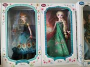 Frozen Fever Elsa And Anna Set New Disney Store Limited Edition 5000 Doll