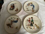 1972 Norman Rockwell Four Seasons Plates - Limited Edition