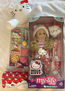 My Life As Hello Kitty 18 Doll W/sleepover Accessories Pillow And Sleeping Bag