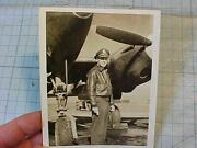 Original Wwii Avg 23rd Ftr Gp Flying Tigers Ace Photo In A-2 Flight Jacket P-38