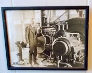 Rare Antique Photo Allis Chalmers Machinery Agriculture Advertising