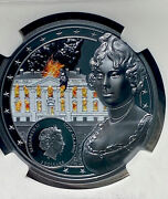 White House Burning Then And Now Coin Set Ngc Pf70 Ultra Cam 1oz And 2oz Signed