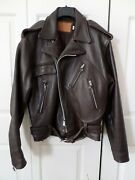 Rare - Vintage - Iron Horse - Leather Motorcycle Jacket Size Lg - One Of A Kind