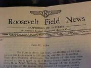 Original Pre Wwii Lot Of 3 Roosevelt Field Ny News Letters Papers 1938-39