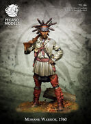Mohawk Warrior, 1760 Tin Painted Toy Miniature Pre-sale | Museum Quality