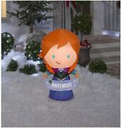 3.5 Ft Anna From Frozen Christmas Airblown Inflatable Winter Wishes Banner