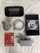 Nintendo Wii U Console Bundle Deluxe Set Complete W/ New 8gb Sd And Game