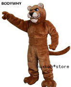 Leopard Cat Cougar Mascot Costume Fursuit Cosplay Party Game Outfit Easter Adult