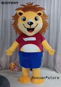 Cute Lion Mascot Costume Suit Cosplay Party Game Dress Outfit Carnival Halloween