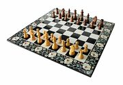 24x24 Exquisite Collectible Marble Stone Pietra Dura Chess Board Set Table Top
