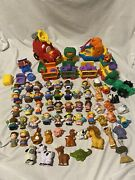 Fisher Price Little People Lot Figures Fire Truck Zoo Train Animals Boat Farm