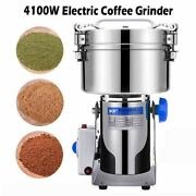4100w Electric Coffee Grinder Spices Nut Seed Bean 304 Stainless Steel Powerful