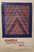 Amish Abstractions Quilts. De Young Museum Poster