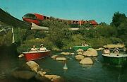Disneyland Ca Motorboats And Monorail In Tomorrowland Postcard Disney Theme Park