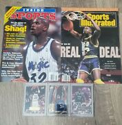 Vintage Sports Illustrated 1991 Shaquille O'neal Lsu Cover And Inside Sports...