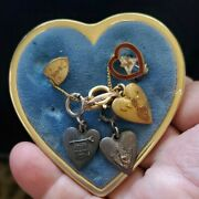 Jewelry Wotm Women Of The Moose-badges News Castle 10k Gold And Ss Heart Charms