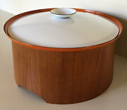 """Servex Mcm Enamelware And Teak 13"""" Casserole Three Pieces Made In Sweden"""