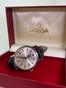 Vintage Omega Geneve Ref 166 0163 S/steel Automatic Watch C1960and039s With Box.