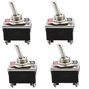5x On Off 4 Pin Toggle Switch Dpst Car Dashboard Switch 10a 125vac 6a 250vac Aa