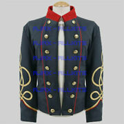 Menand039s Blue Officers Double Breasted Shell Civil British War Jacket - 100 Wool