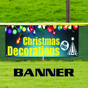Christmas Decorations On Sale Party Gift Decor Indoor Outdoor Vinyl Banner Sign