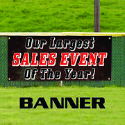 Our Largest Sales Event Of The Year Novelty Indoor Outdoor Vinyl Banner Sign