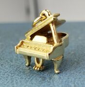 James Avery Retired 14k 3d Grand Piano Charm Musician Uncut Ring Mint Condition